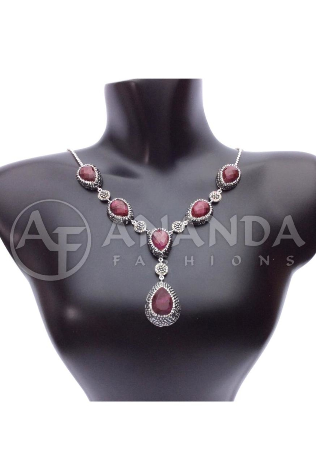 Ananda 925silver Ruby Necklace - Main Image