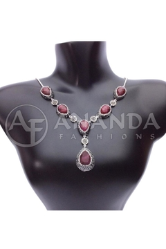 Shoptiques Product: 925silver Ruby Necklace