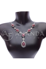 Ananda 925silver Ruby Necklace - Product Mini Image