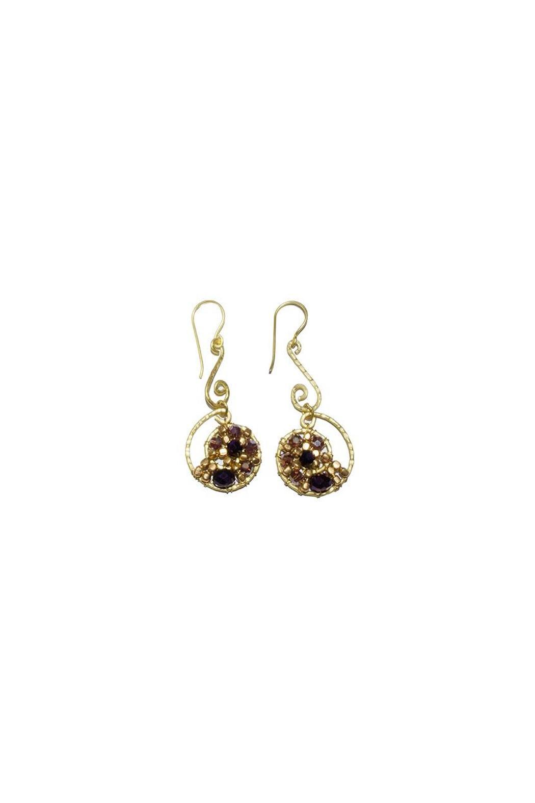 Ananda Brass Wired Earrings - Main Image