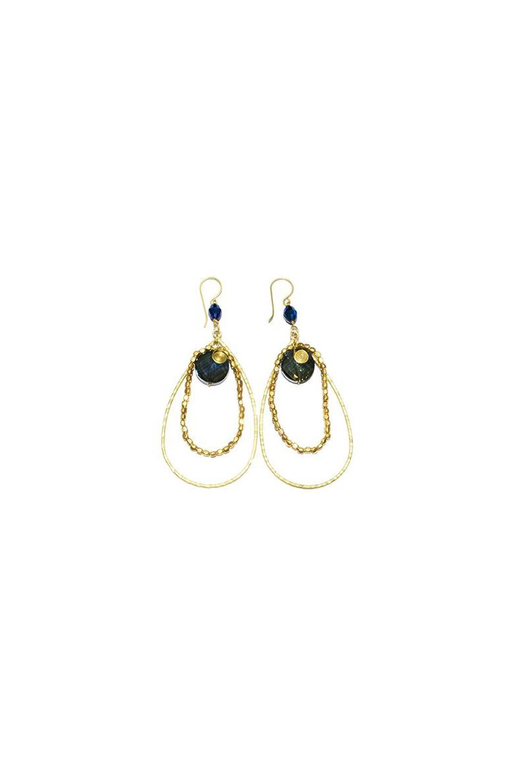 Ananda Crystal Earrings - Front Cropped Image