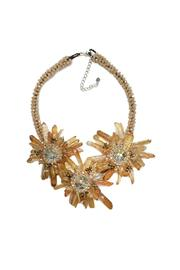 Ananda Beige Flower Necklace - Product Mini Image