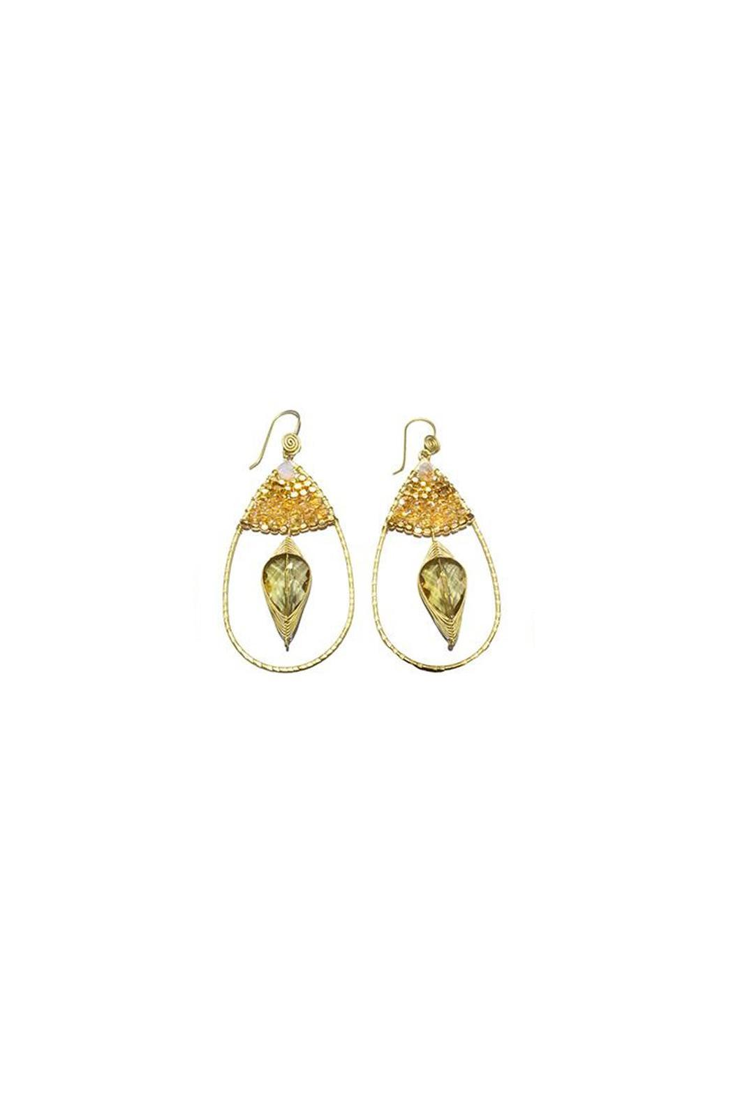 Ananda Handmade Brass Earrings - Front Cropped Image