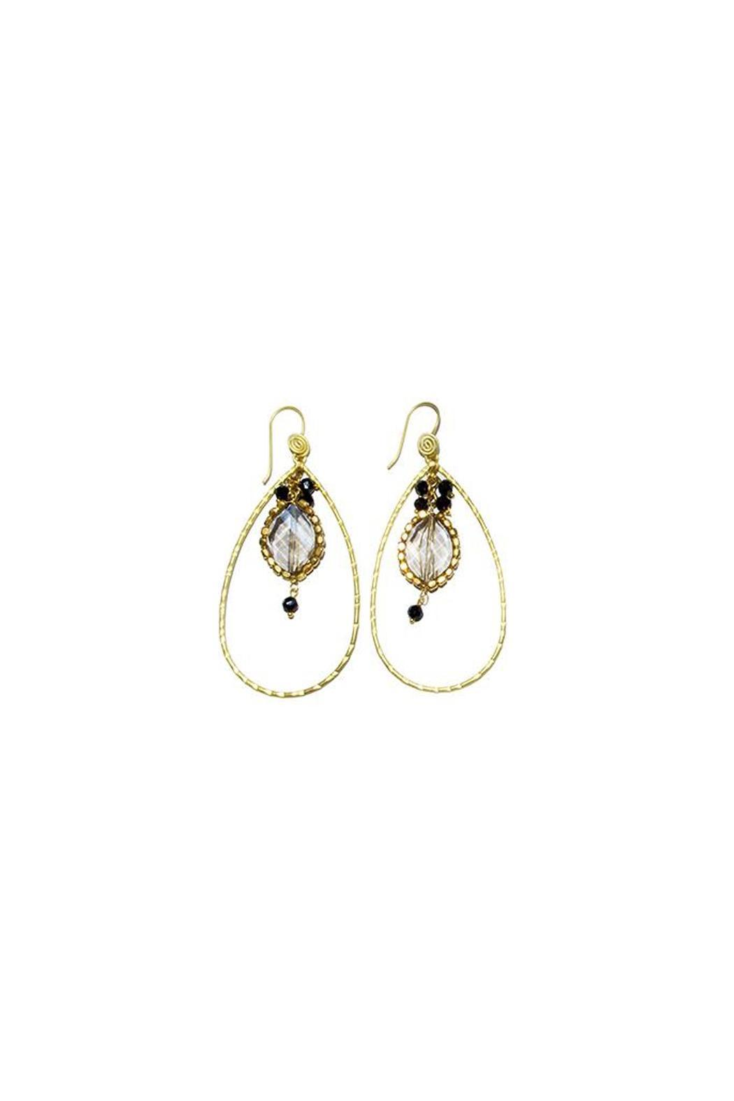 Ananda Handmade Crystal Earring - Front Cropped Image