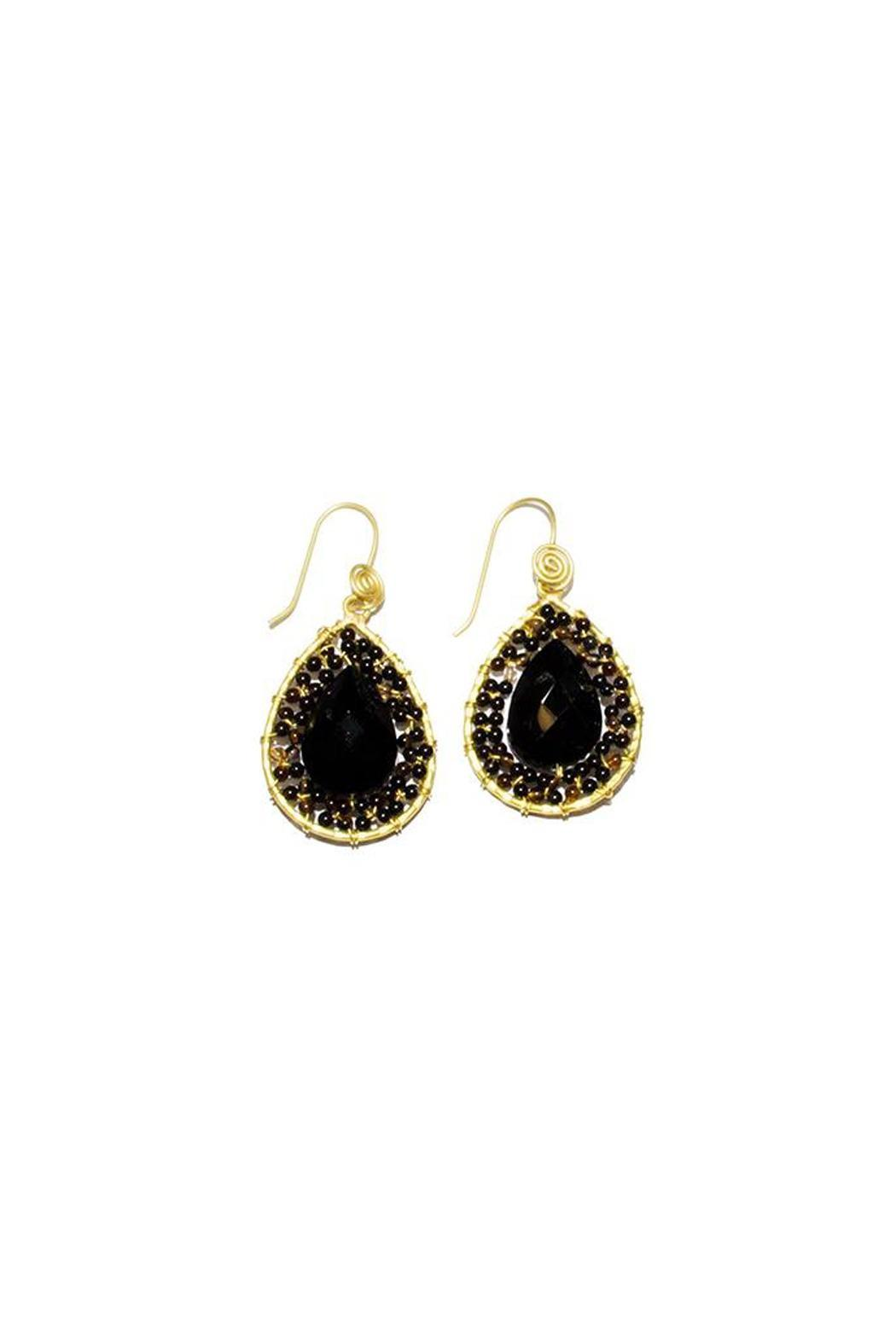 Ananda Handmade Crystal Earrings Front Cropped Image