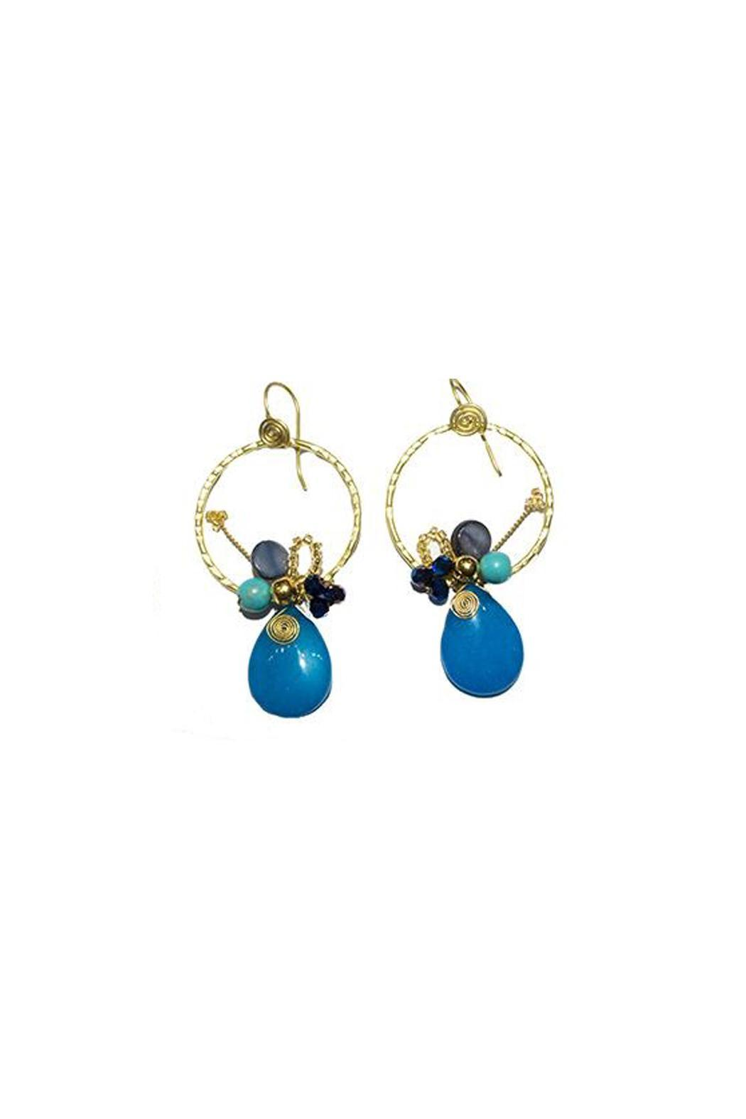 Ananda Hooped Teardrop Earring - Main Image