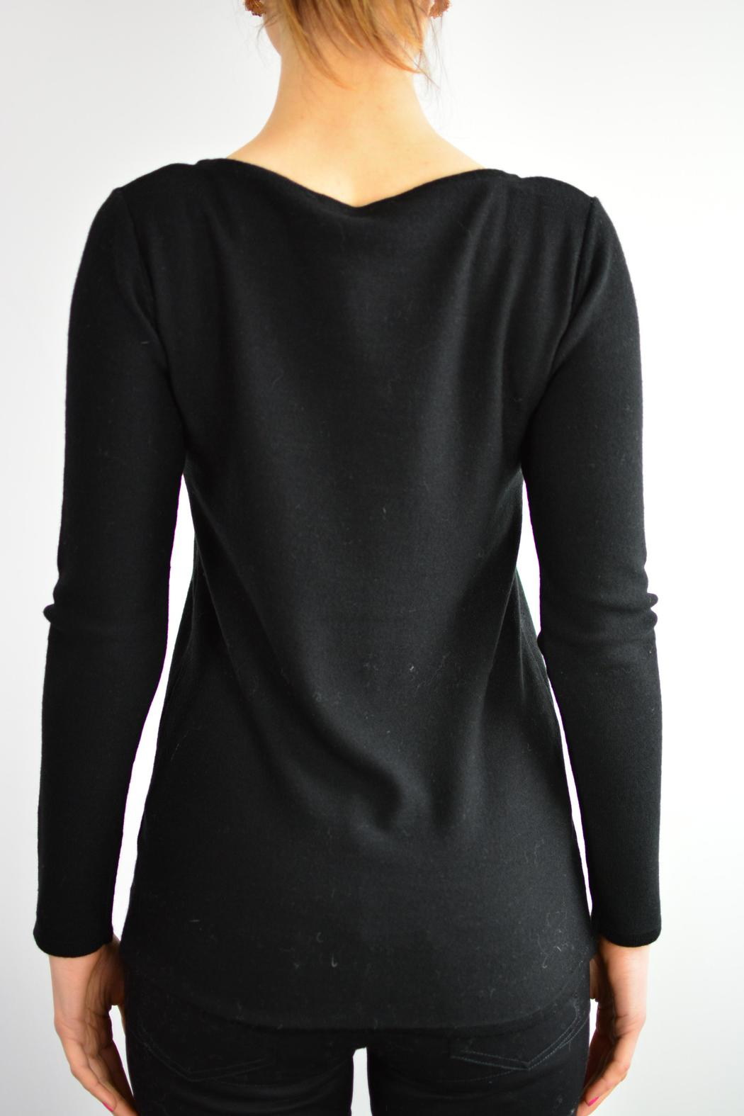 ANANKE Black Jumper - Back Cropped Image