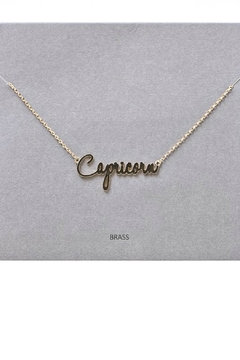 Shoptiques Product: Capricorn Pendant Necklace