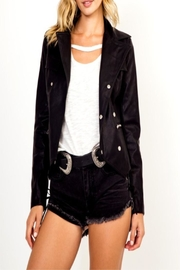 Olivaceous Anarchy Leather Jacket - Product Mini Image