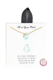 Anarchy Street Amazonite Charm Necklace - Product Mini Image