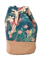 Anarchy Street Floral Draw-String Bucket-Bag - Front cropped