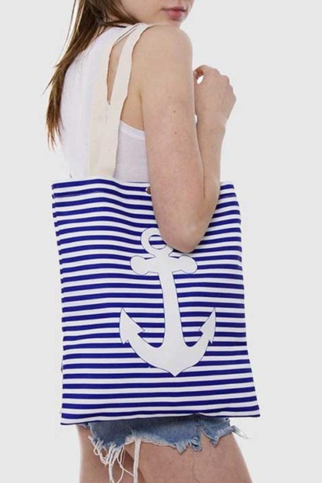 Wholesale Fashion Anchor Canvas Tote - Front Full Image