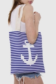 Wholesale Fashion Anchor Canvas Tote - Front full body