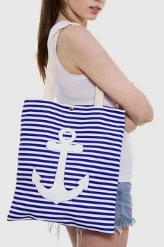 Wholesale Fashion Anchor Canvas Tote - Product List Image