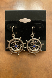 tesoro  Anchor Dangle Earrings - Front cropped