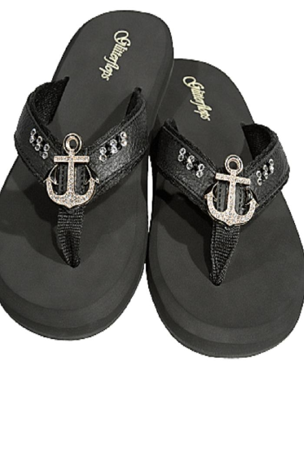 70196b3dc Glitterflops Anchor Insignia Flipflops from Texas by Rock2Royal ...