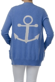 Cortland Park Cashmere Anchor Open Cardigan - Product Mini Image