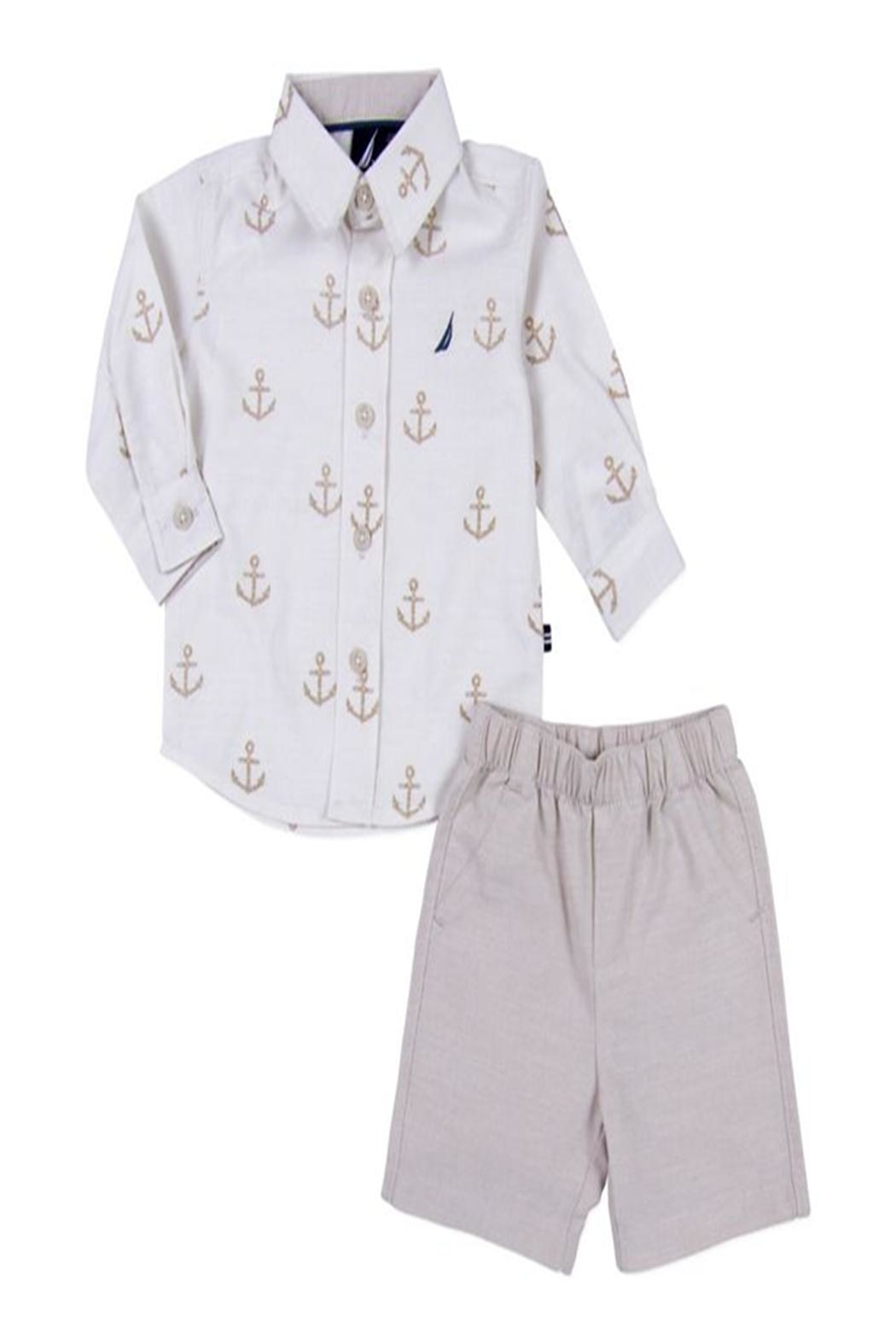 Nautica Anchor Shorts Set - Front Cropped Image