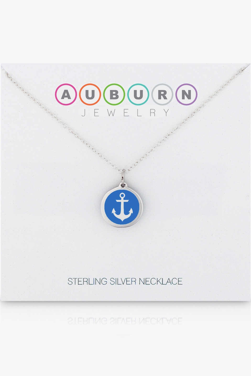 Auburn Jewelry Anchor Silver Pendant - Mini - Side Cropped Image