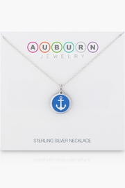 Auburn Jewelry Anchor Silver Pendant - Mini - Side cropped