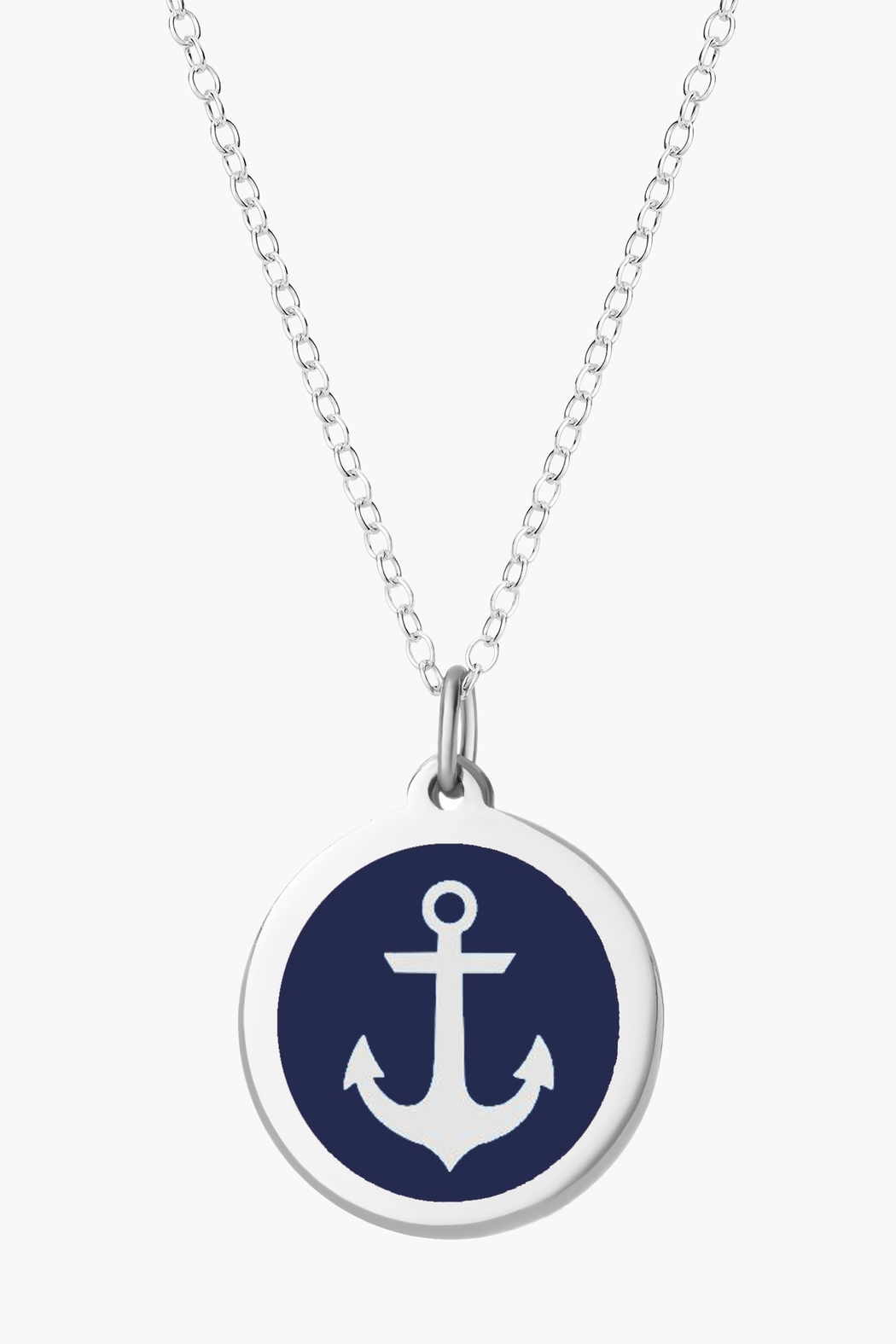 Auburn Jewelry Anchor Silver Pendant - Original - Front Cropped Image