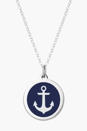 Auburn Jewelry Anchor Silver Pendant - Original - Front cropped