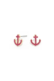 Wild Lilies Jewelry  Anchor Stud Earrings - Front cropped