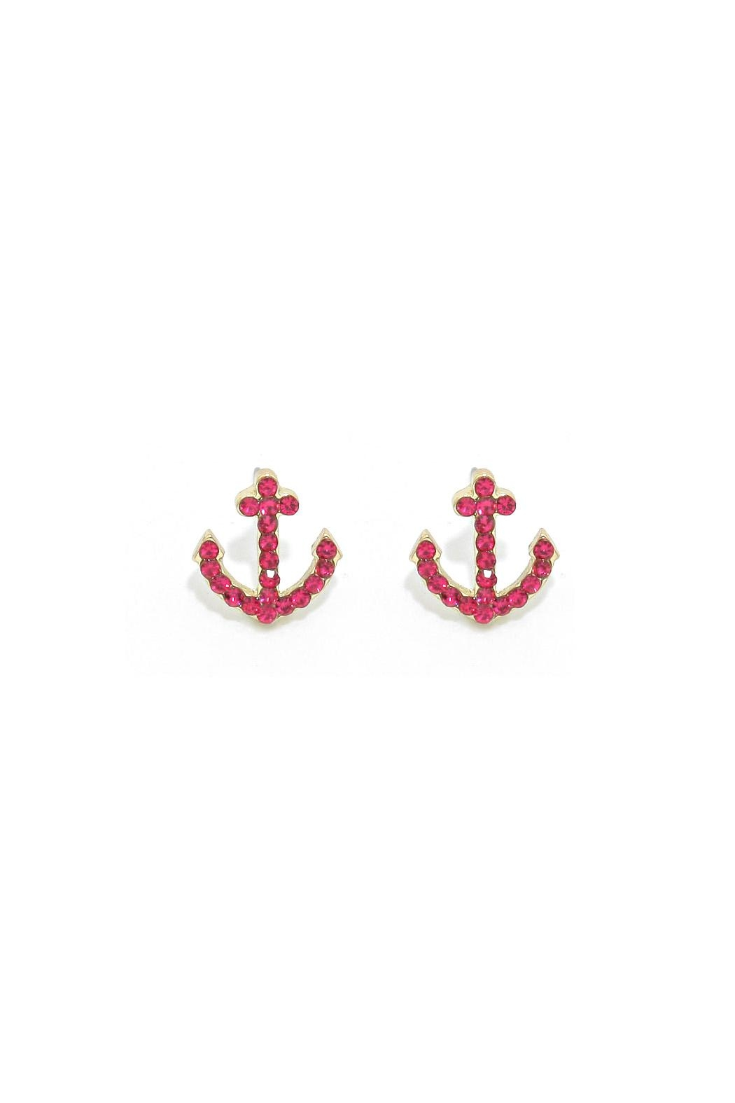 Wild Lilies Jewelry  Anchor Stud Earrings - Front Full Image