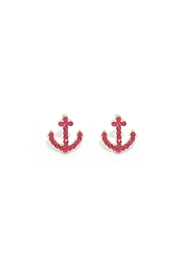 Wild Lilies Jewelry  Anchor Stud Earrings - Front full body