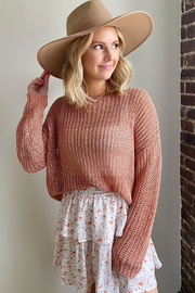 HARPER WREN Anchorage Loose Knit Sweater - Product Mini Image