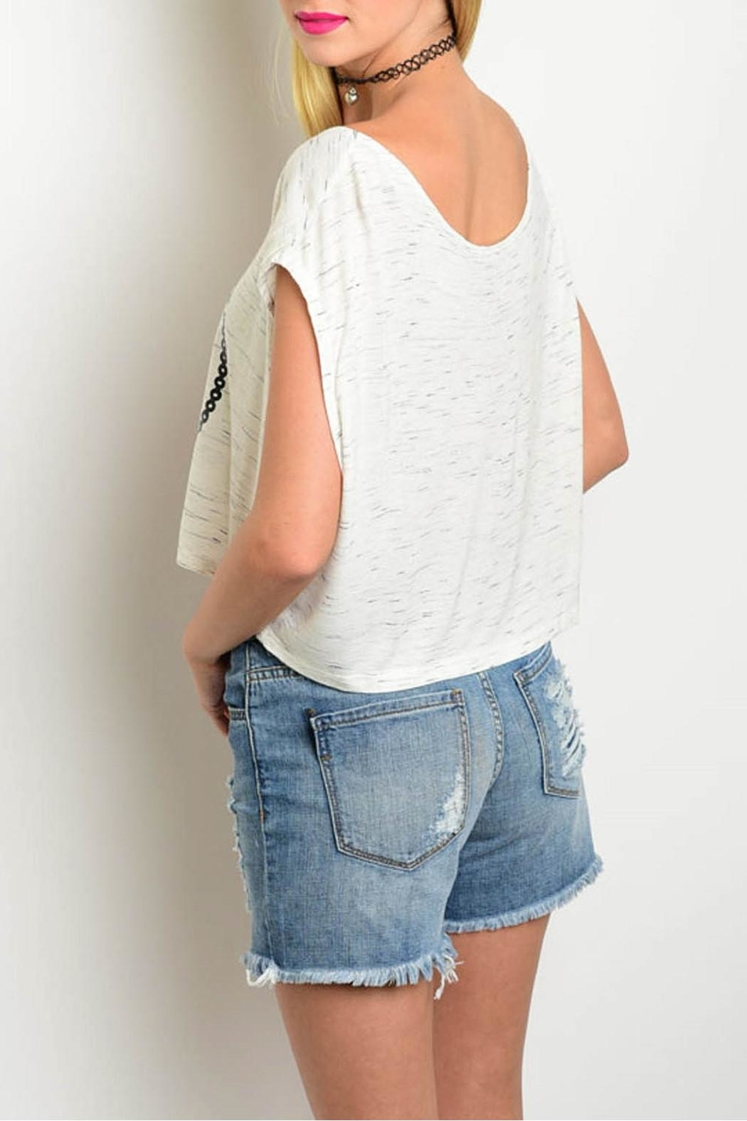 Viola  Anchors White Top - Front Full Image