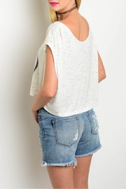 Viola  Anchors White Top - Front full body