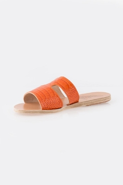 Ancient Greek Sandals Apteros Croc Orange - Product List Image