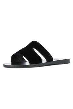 Ancient Greek Sandals Apteros Velvet Black - Product List Image