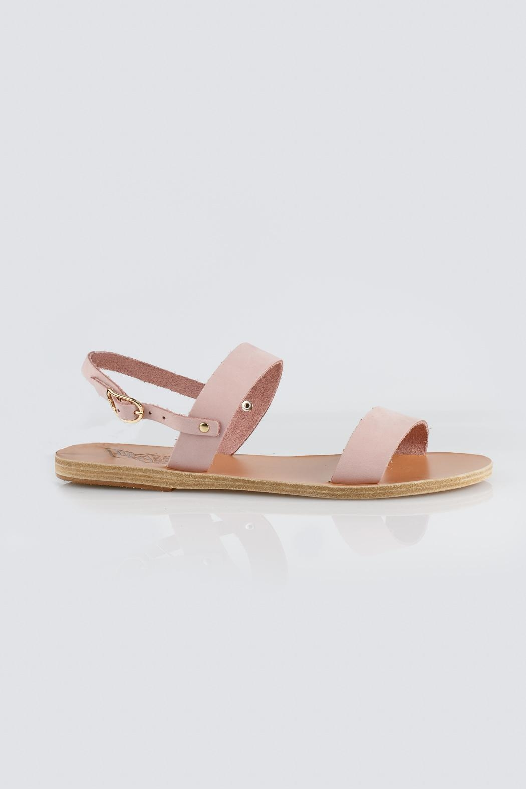 Ancient Greek Sandals Pink Slip Sandal - Front Full Image