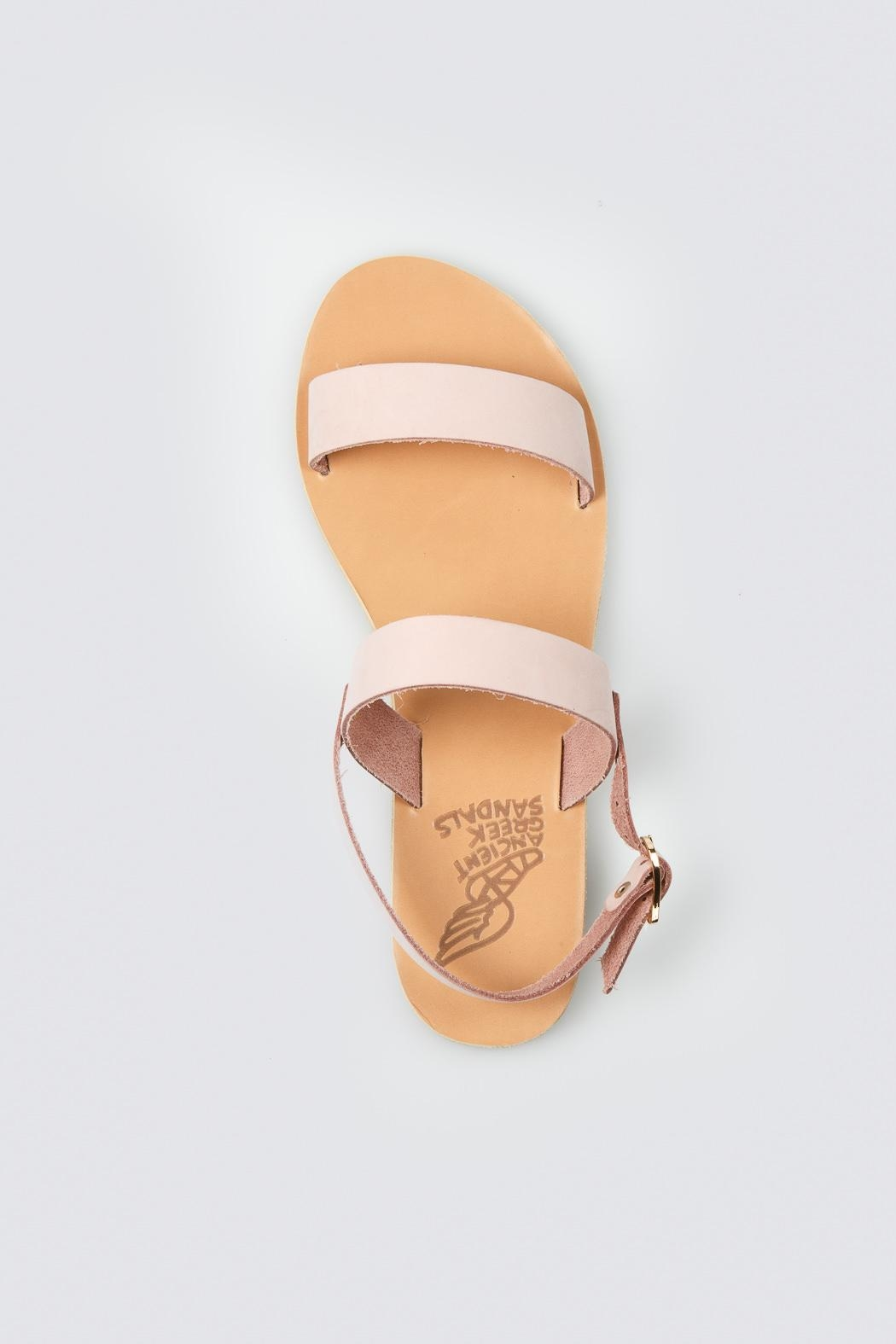 Ancient Greek Sandals Pink Slip Sandal - Back Cropped Image