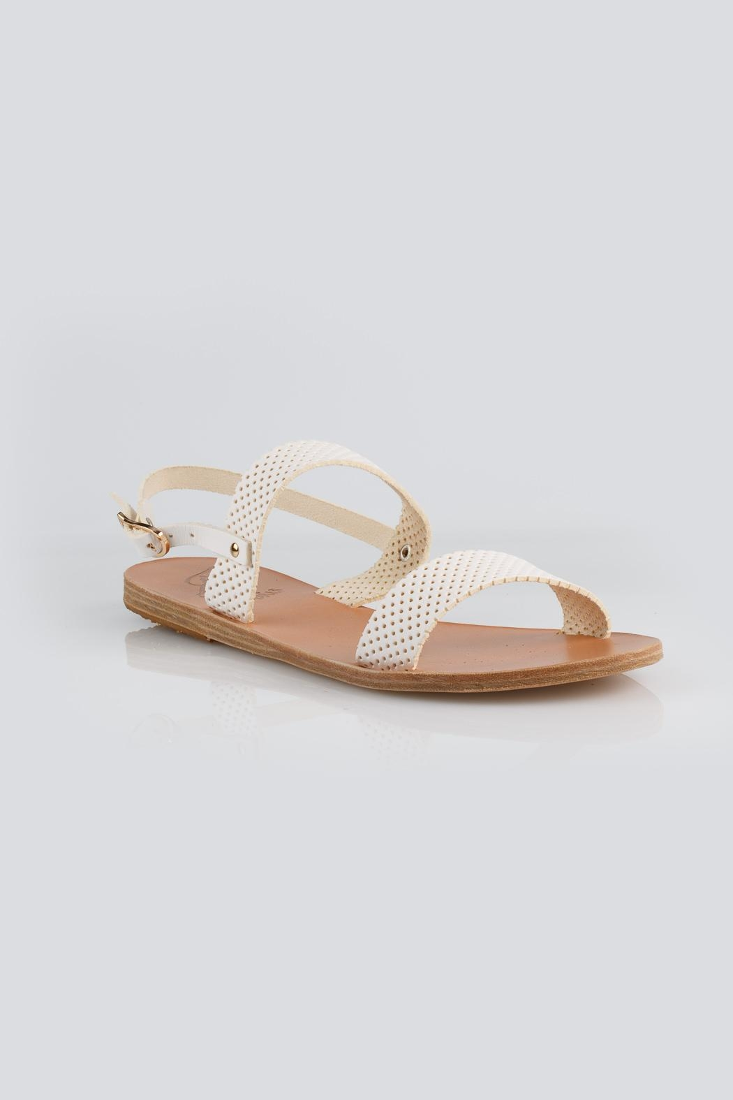 Ancient Greek Sandals Clio White Sandal - Side Cropped Image