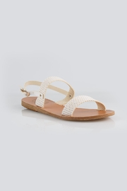Ancient Greek Sandals Clio White Sandal - Side cropped