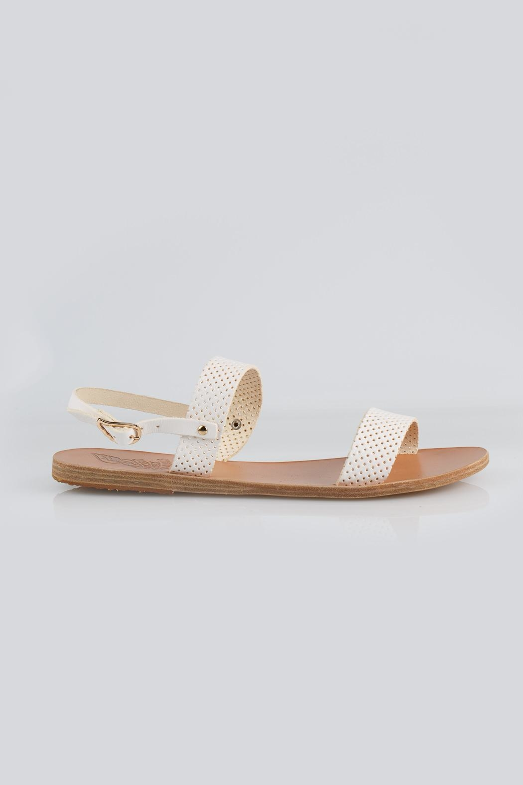 Ancient Greek Sandals Clio White Sandal - Front Full Image