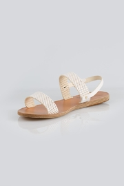 Ancient Greek Sandals Clio White Sandal - Front cropped