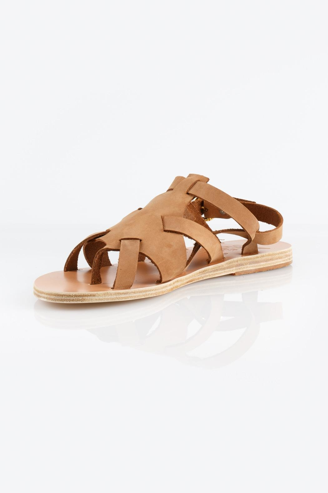 Ancient Greek Sandals Enyo Nubuck Cappuccino Sandals - Front Cropped Image
