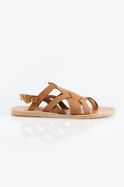 Ancient Greek Sandals Enyo Nubuck Cappuccino Sandals - Front full body