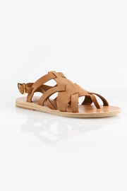 Ancient Greek Sandals Enyo Nubuck Cappuccino Sandals - Side cropped