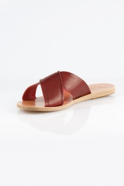 Ancient Greek Sandals Burgundy Slip Sandal - Product Mini Image