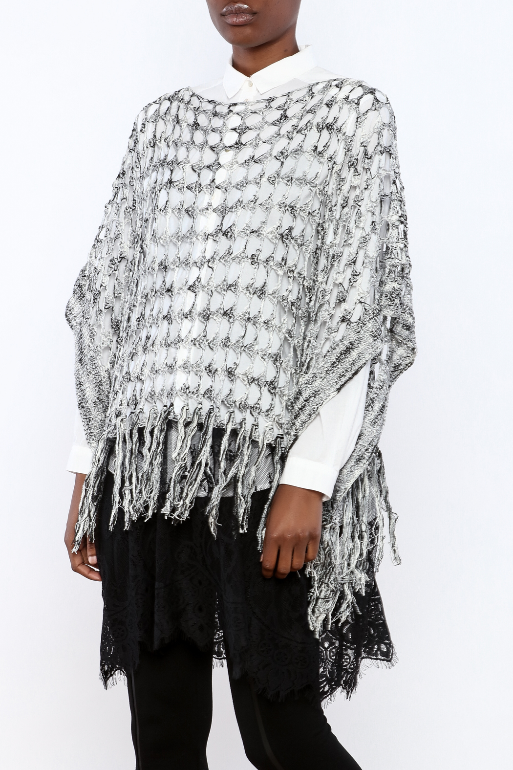 Andor open knit poncho from naples by petunias of naples shoptiques andor open knit poncho front cropped image bankloansurffo Images