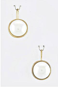 And Lovely Pearl Dome Earrings - Alternate List Image