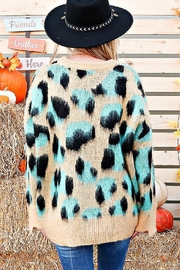 And the Why Animal-Print Cozy Sweater - Front full body