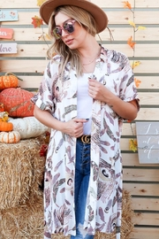 And the Why Feather-Print Shirt Dress - Front full body