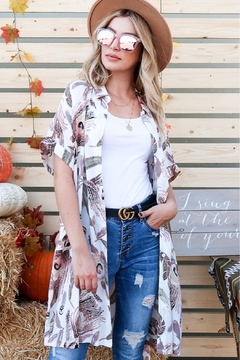 And the Why Feather-Print Shirt Dress - Product List Image