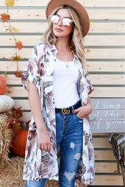 And the Why Feather-Print Shirt Dress - Front cropped
